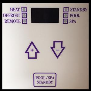 oasis pool heater control panel